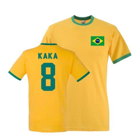 Kaka Brazil Ringer Tee (yellow)