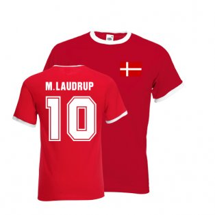 Michael Laudrup Ringer Tee (red)