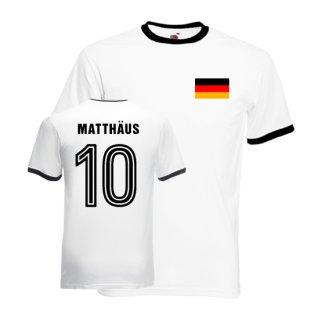 Lothar Matthaus Germany Ringer Tee (white-black)