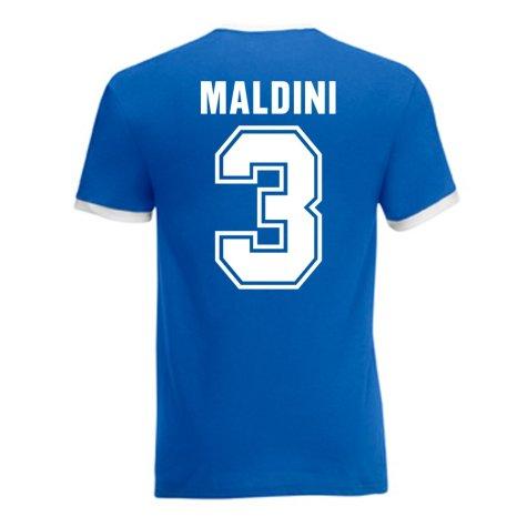 Paolo Maldini Italy Ringer Tee (blue)