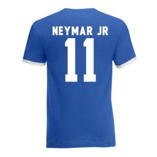 Neymar Brazil Ringer Tee (blue)