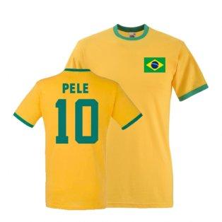 Pele Brazil Ringer Tee (yellow)