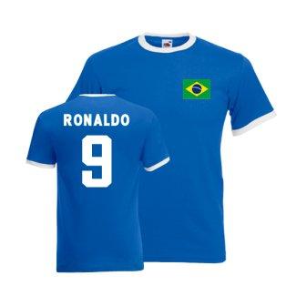 Ronaldo Brazil Ringer Tee (blue)