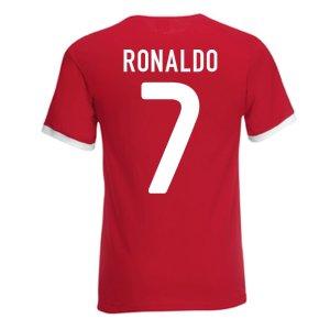 Cristiano Ronaldo Portugal Ringer Tee (red)