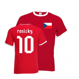 Tomas Rosicky Czech Republic Ringer Tee (red)