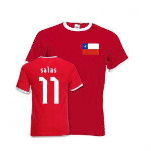 Marcelo Salas Chile Ringer Tee (red)