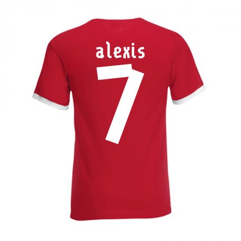 Alexis Sanchez Chile Ringer Tee (red)