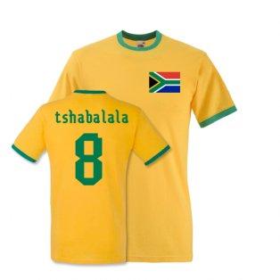 Siphiwe Tshabalala South Africa Ringer Tee (yellow)