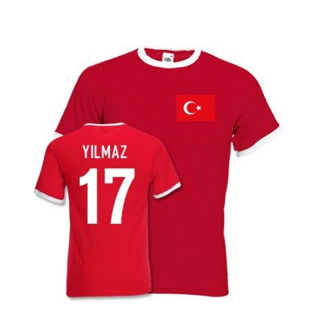 Burak Yilmaz Turkey Ringer Tee (red)