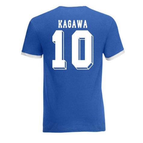 Shinji Kagawa Japan Ringer Tee (blue)