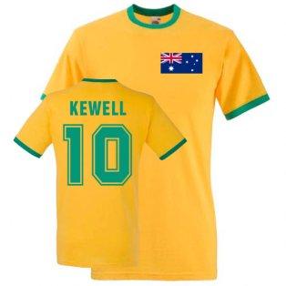 Harry Kewell Australia Ringer Tee (yellow)