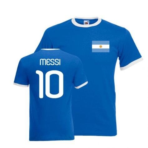 Lionel Messi Argentina Ringer Tee (blue)