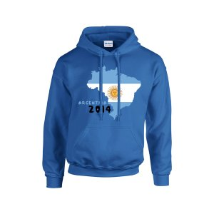 Argentina 2014 Country Flag Hoody (grey) - Kids