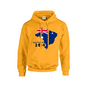 Australia 2014 Country Flag Hoody (yellow) - Kids