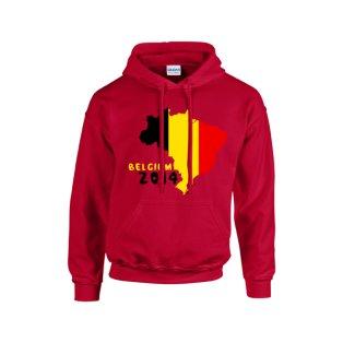 Belgium 2014 Country Flag Hoody (red) - Kids