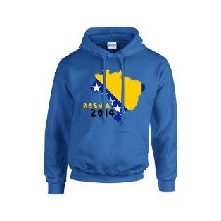 Bosnia 2014 Country Flag Hoody (blue) - Kids