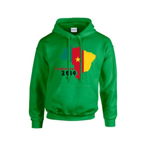Cameroon 2014 Country Flag Hoody (green)