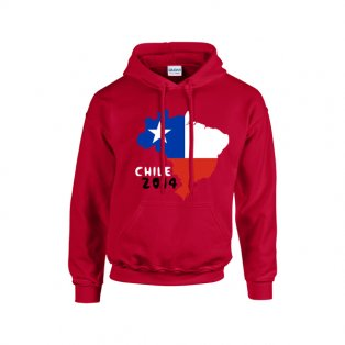 Chile 2014 Country Flag Hoody (red) - Kids