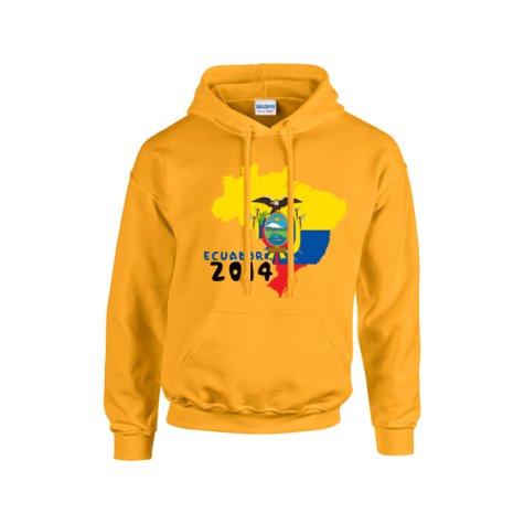 Ecuador 2014 Country Flag Hoody (yellow)