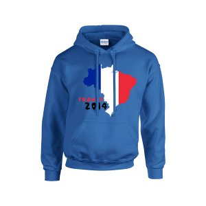 France 2014 Country Flag Hoody (blue)