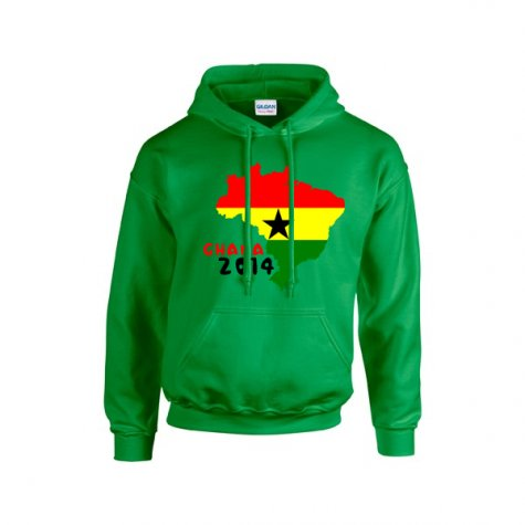 Ghana 2014 Country Flag Hoody (green) - Kids