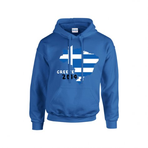 Greece 2014 Country Flag Hoody (blue) - Kids