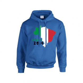 Italy 2014 Country Flag Hoody (blue) - Kids