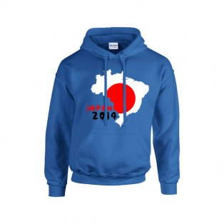 Japan 2014 Country Flag Hoody (blue) - Kids