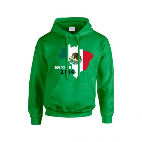 Mexico 2014 Country Flag Hoody (green) - Kids