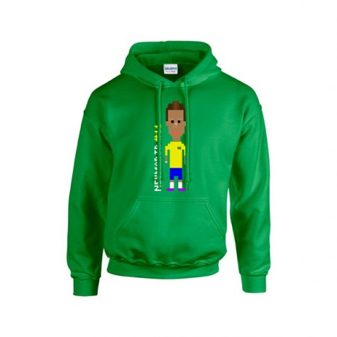 Neymar Player Hooded Top (green)