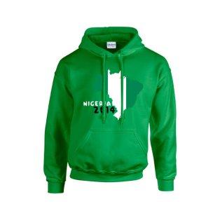 Nigeria 2014 Country Flag Hoody (green) - Kids