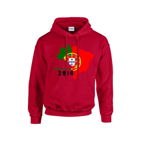 Portugal 2014 Country Flag Hoody (red) - Kids