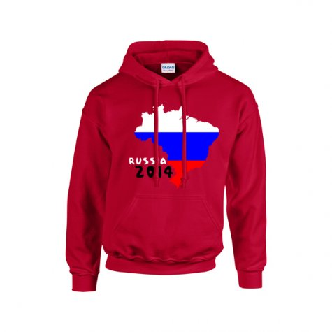 Russia 2014 Country Flag Hoody (red) - Kids