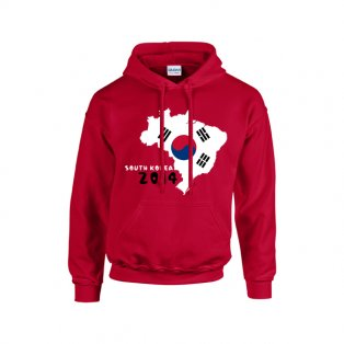 South Korea 2014 Country Flag Hoody (red) - Kids