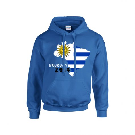 Uruguay 2014 Country Flag Hoody (blue)