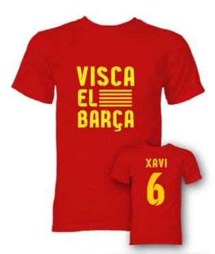 Xavi Visca El Barca Hero T-Shirt (Red)