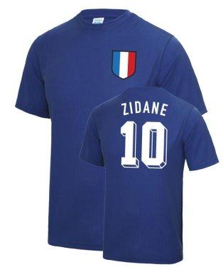 Zinedine Zidane France WC Football T Shirt - Blue