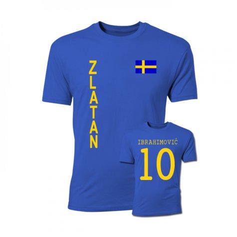 Zlatan Ibrahimovic Sweden Flag T-Shirt (Blue)