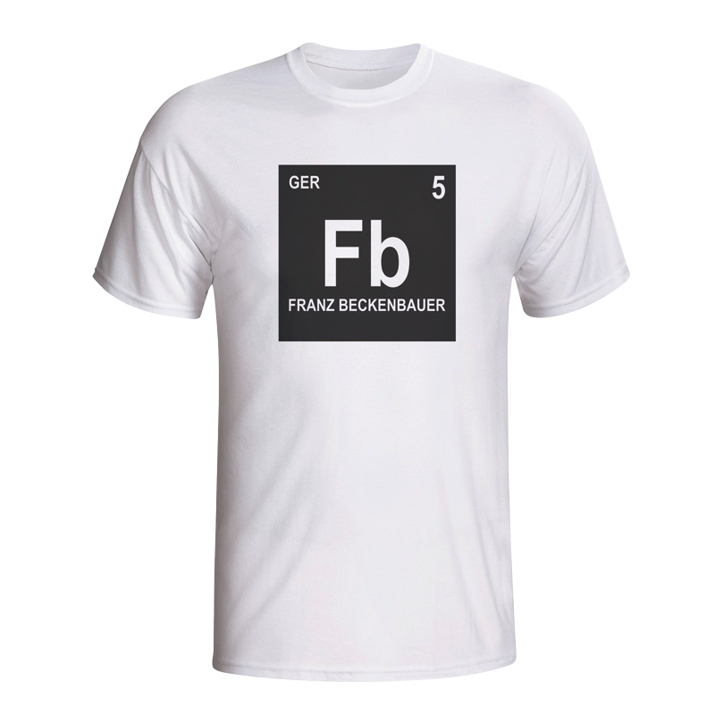 Buy franz beckenbauer football shirts at uksoccershop franz beckenbauer germany periodic table t shirt white urtaz Image collections