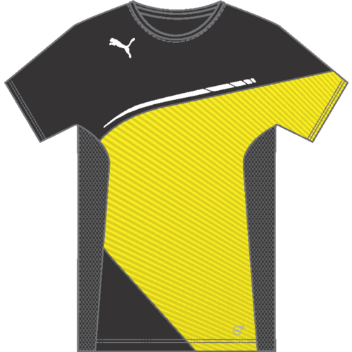 black and yellow puma shirt