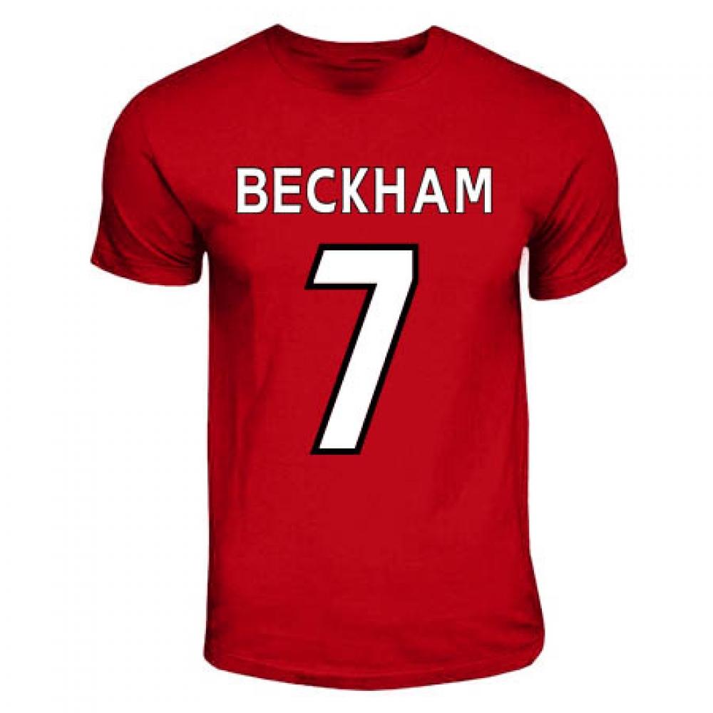 David Beckham Manchester United Hero T-shirt (red) 8ef691bb7