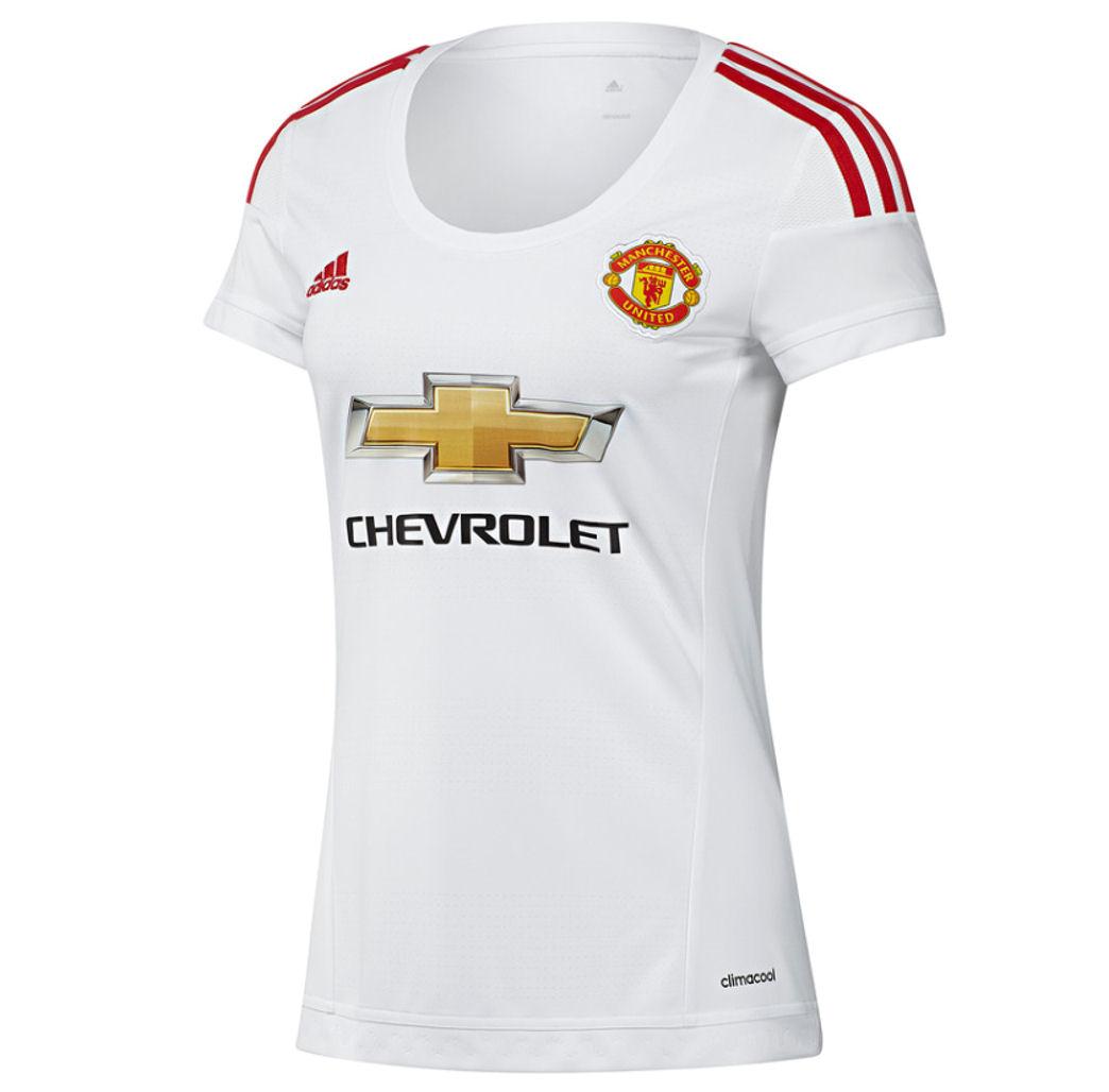 a4f694281c9 2015-2016 Man Utd Adidas Womens Away Shirt