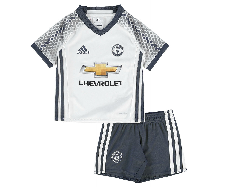ed3f11818 2016-2017 Man Utd Adidas Third Little Boys Mini Kit