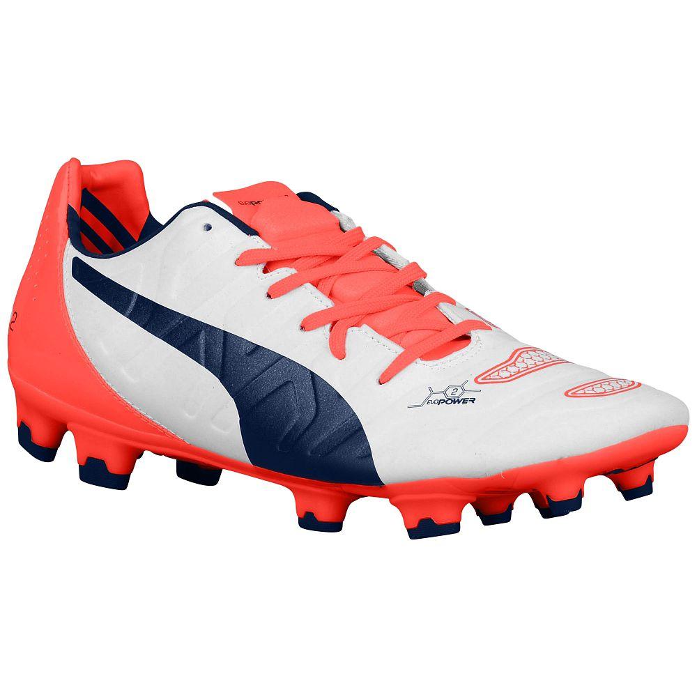 073b102db6c Puma Evopower 2.2 FG Football Boots (White-Orange)