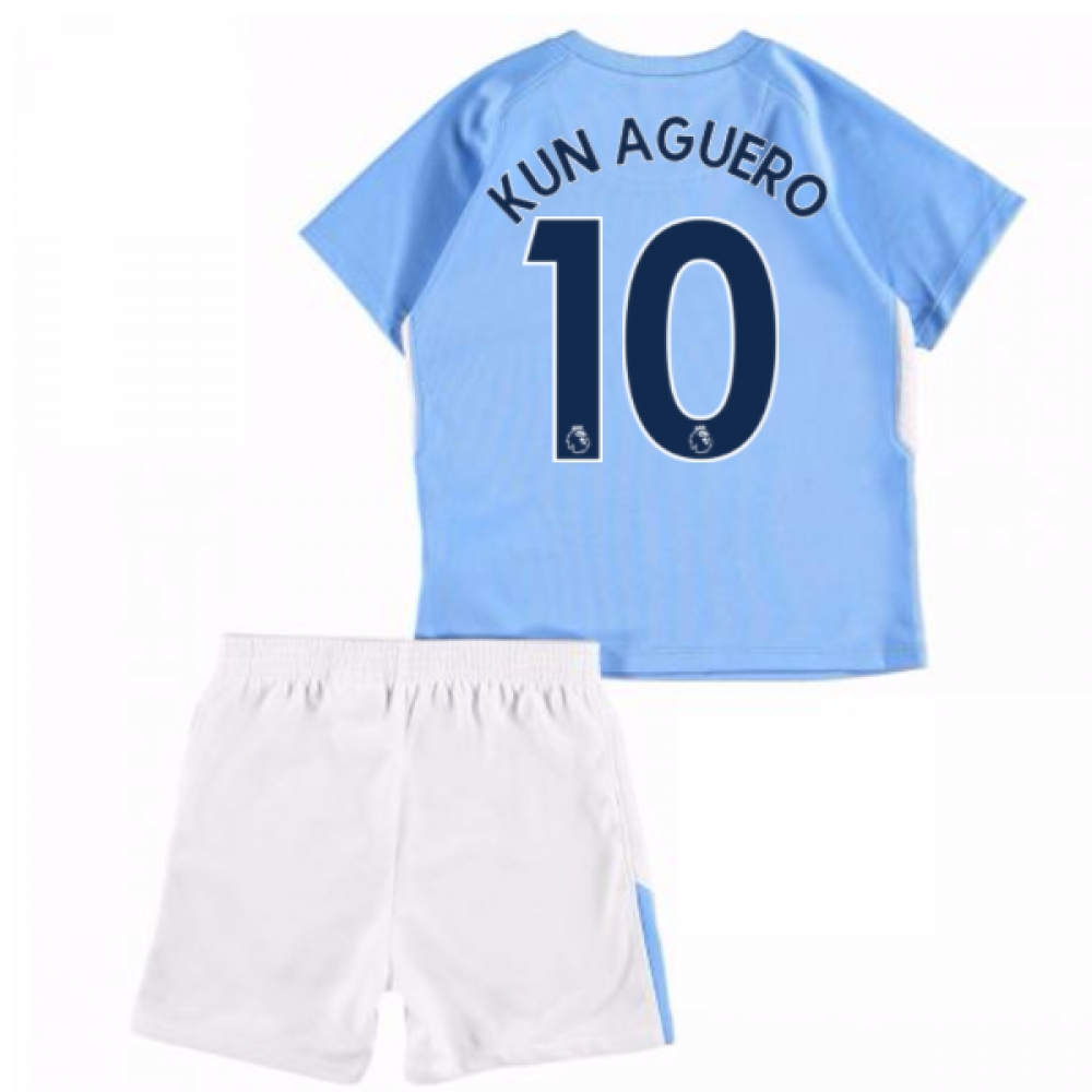 323ceaf93 ... Jersey With Kun 2017-18 Man City Home Baby Kit (Kun Aguero 10) ...