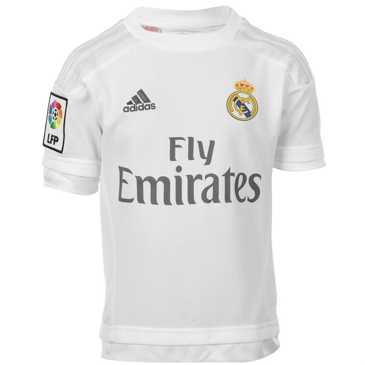 Real Madrid Home Shirt - Adult   Kids Kit - UKSoccershop.com e8527fb9c