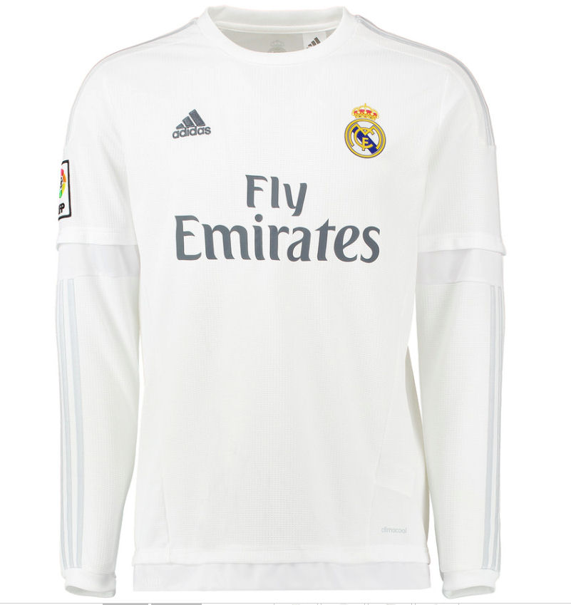 f6a28b232d3 ... 2015-16 Real Madrid Long Sleeve Home Shirt (Marcelo 12) - Kids S12685  ...