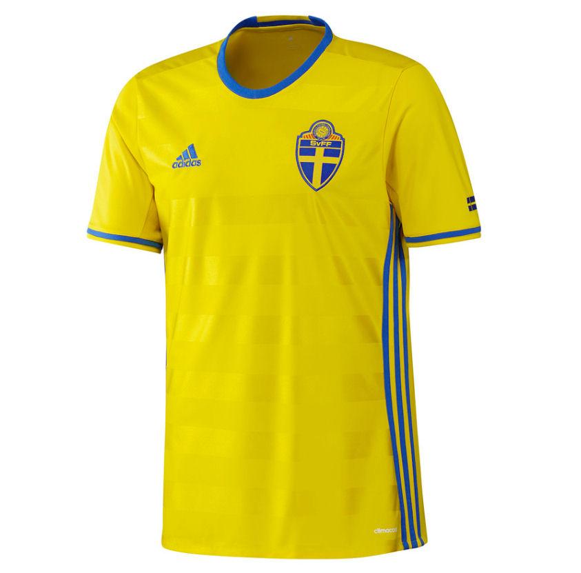 2016-2017 Sweden Home Adidas Football Shirt (Kids) e47351e02