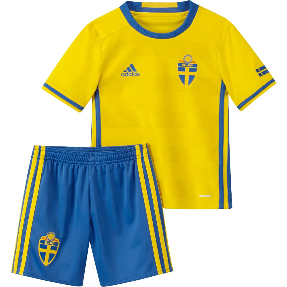 2016 2017 sweden home adidas mini kit - Yellow Home 2016