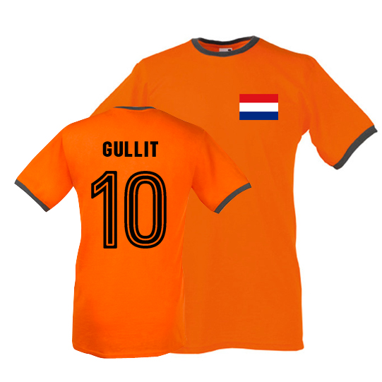 f255519590 Ruud Gullit Holland Ringer Tee (orange)
